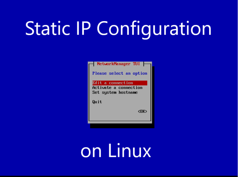 Static IP Configuration-Linux [Redhat, CentOS, Oracle]